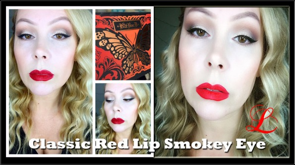 Classic Red Lip Smokey Eye